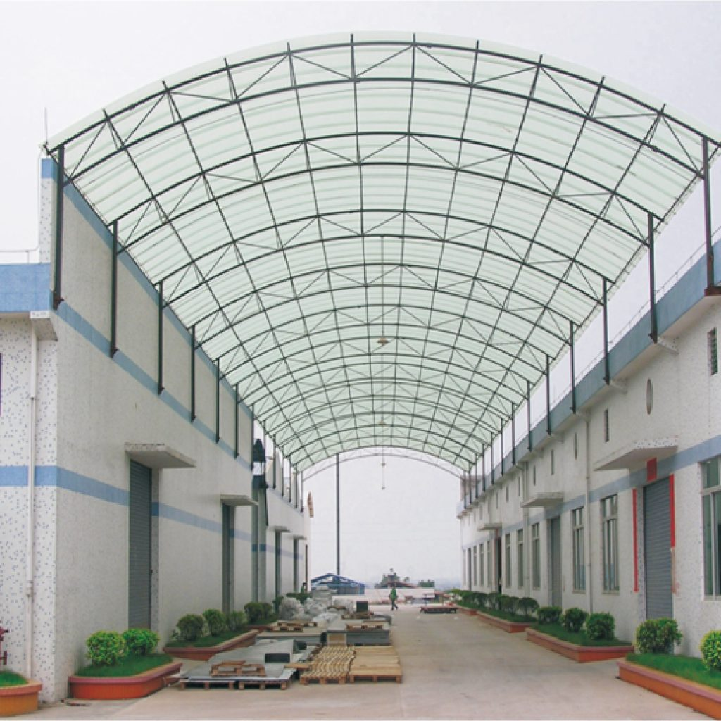 Transparent roofing sheets